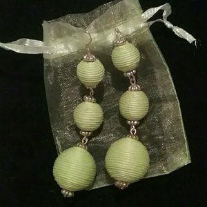 Jewelry - Women's daily green ball earrings nwot!